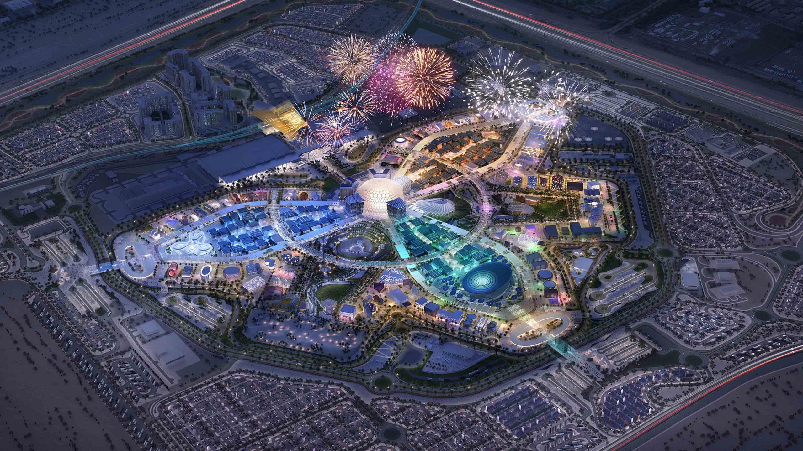 Fireworks over Expo 2020 Dubai