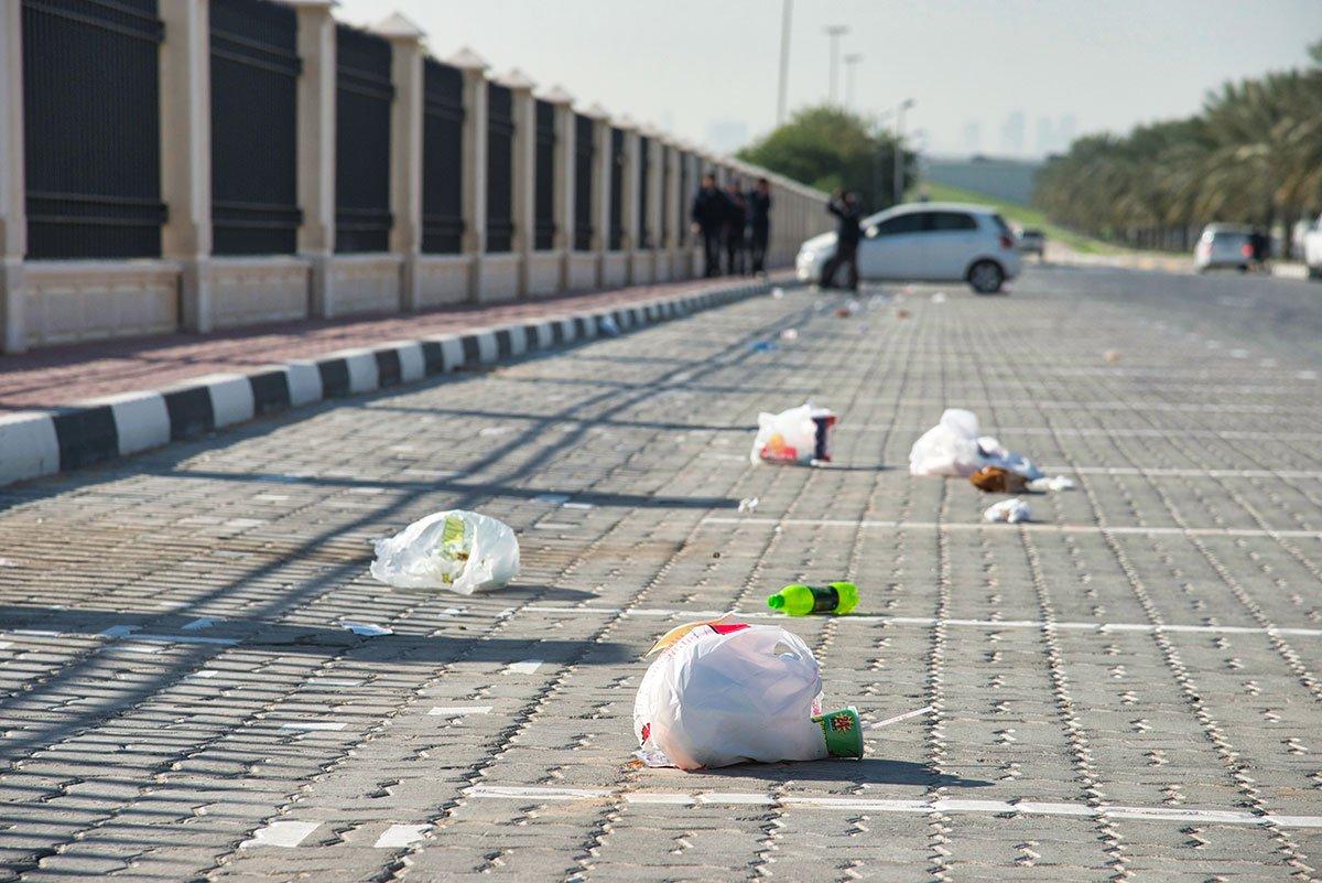 Litter in car park